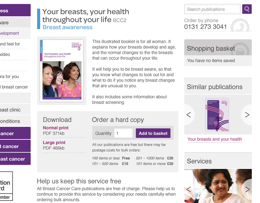 Breast Cancer Care Screenshot 3